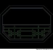 中式窗立面图