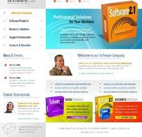 欧美软件网站网页模板