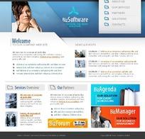 欧美商务软件网页设计模板
