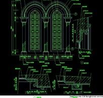 欧式窗标注设计图
