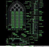 欧式窗欧式窗立面标注设计图