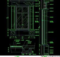 欧式窗施工设计图