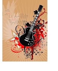 放射线条背景吉他