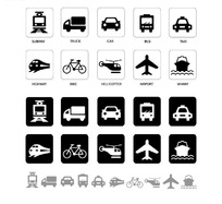 交通工具矢量图标