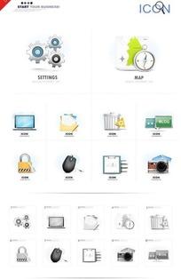 计算机网页设计矢量素材