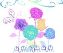 可爱花朵花纹背景图片