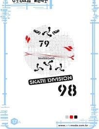 艺术字体设计海报之创意滑雪图形