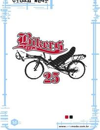 艺术字体设计海报之创意自行车