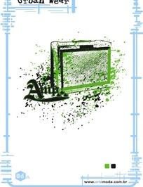 艺术字体设计海报之喷溅音响