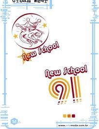 艺术字体设计海报之新概念学校