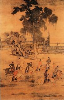 中国传世名画-八达春游图