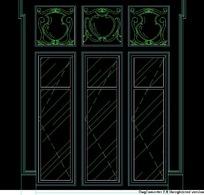 西式窗欧式窗CAD素材