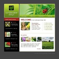 景观设计网页模板