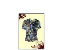 迷彩图案短袖T恤