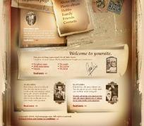 欧美复古网页设计