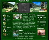 欧美绿色艺术景观网页设计