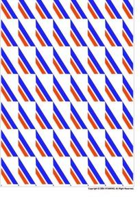 蓝红斜条长方形花纹图案