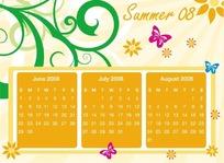 时尚花纹日历