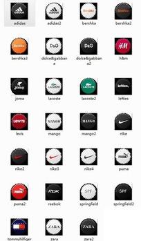 名牌服装标志图标图片