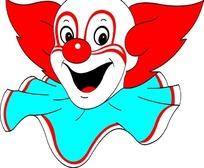 矢量小丑头像插画