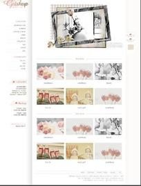 怀旧饰品网页模板