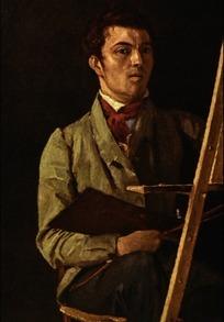 古代欧洲人物男士画家油画肖像