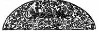 古典拓印凤凰雕刻图案