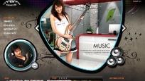 音乐类网页模板