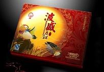 一款高档的月饼包装礼盒(鸳鸯戏月)
