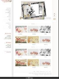 复古怀旧商店网页模板