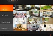 欧美室内装饰行业网站网页源码