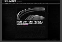 黑色简洁 网页设计