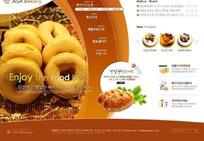 韩国料理店网站网页模板