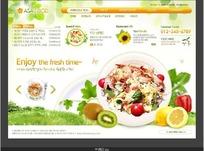 韩国美食料理企业网站网页模版