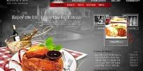 韩国美食料理网站网页模版
