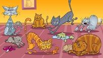 卡通猫咪插画矢量素材