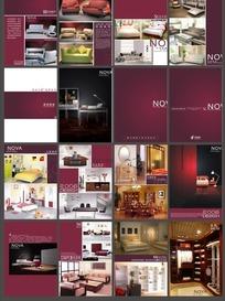 室内设计画册矢量图