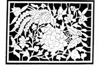 中国古典图案-凤凰和牡丹