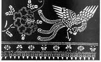 中国古典图案-振翅飞翔的凤凰
