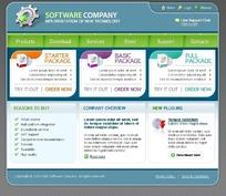 欧美软件开发行业网站网页模版