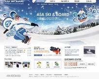 韩国滑雪运动网站网页模版