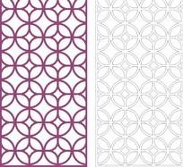 紫色中式铜钱图案镂空花纹