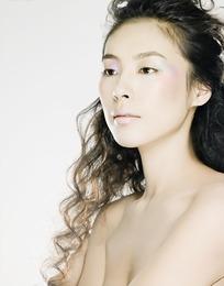 长发性感女模特写真照片
