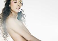 裸体时尚女模特写真照片