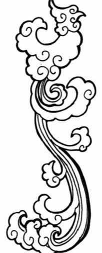 中国古典图案-如意纹的抽象凤凰图片图片