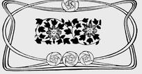波斯菊/叶子/玫瑰/曲线构成的花纹
