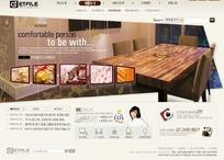 韩国美食料理餐厅网站网页模板