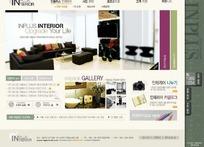 韩国装饰公司网站模版