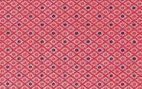 红底色四方连续图案布料素材