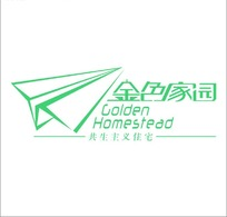 """""""金色家园""""标志设计"""